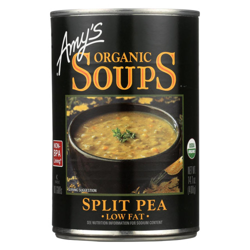 Amy's - Organic Fat Free Split Pea Soup - Case Of 12 - 14.1 Oz