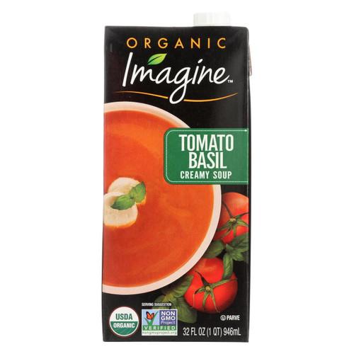 Imagine Foods Tomato Basil Soup - Creamy - Case Of 12 - 32 Oz.