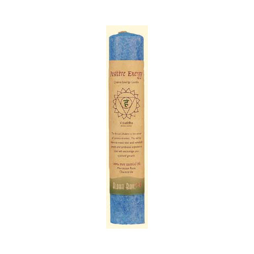 Aloha Bay - Chakra Pillar Candle Positive Energy Blue - 1 Candle