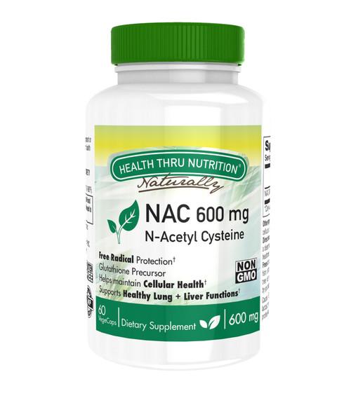 Health Thru Nutrition - Nac N-acetyl Cysteine - 60 Vegetarian Capsules