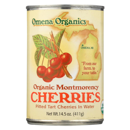 Omena Organics Tart Cherry - Organic - Pitted In Water - Case Of 12 - 14.5 Oz