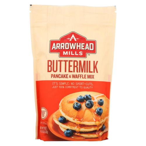 Arrowhead Mills - Organic Buttermilk Pancake And Waffle - Mix - Case Of 6 - 26 Oz.