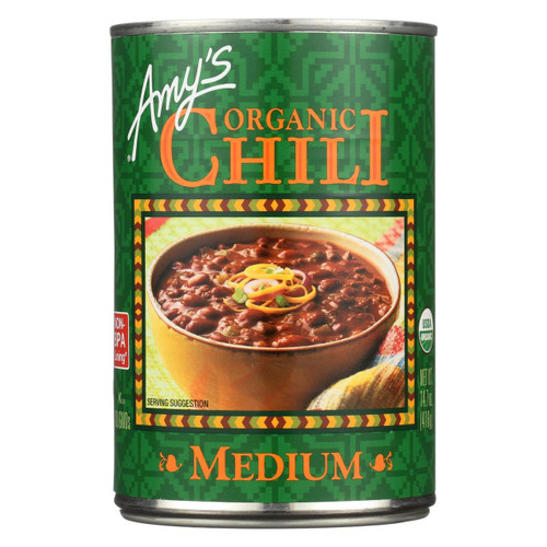 Amy's - Organic Medium Chili - Case Of 12 - 14.7 Oz