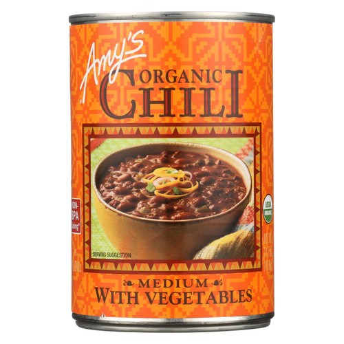 Amy's - Organic Medium Chili With Veggies - Case Of 12 - 14.7 Oz