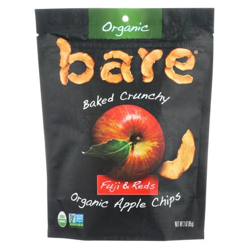 Bare Fruit Apple Chips - Organic - Crunchy - Fuji Red - 3 Oz - Case Of 12