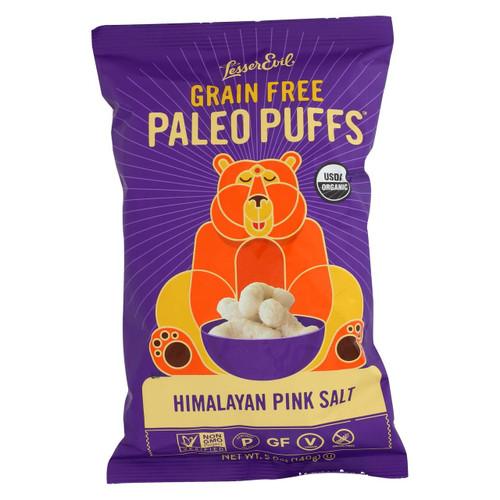 Lesser Evil Puffs - Crunchy, Himalayan Salt - Case Of 9 - 5 Oz.