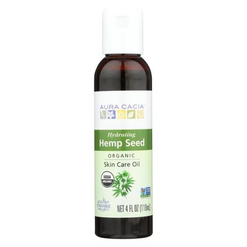 Aura Cacia Body Oil - Hemp Seed - Case Of 1 - 4 Fl Oz.