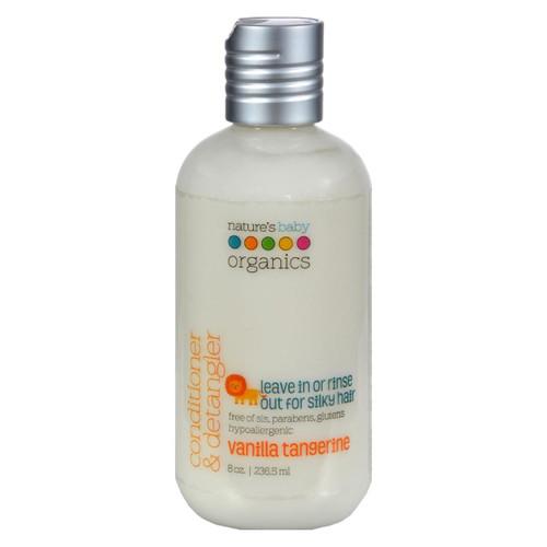 Nature's Baby Organics Conditioner And Detangler Vanilla Tangerine - 8 Fl Oz