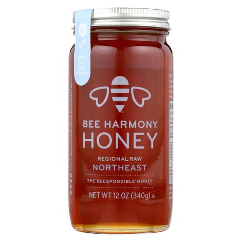 Bee Harmony - Honey - Regional Raw Northeast - Case Of 6-12 Oz.