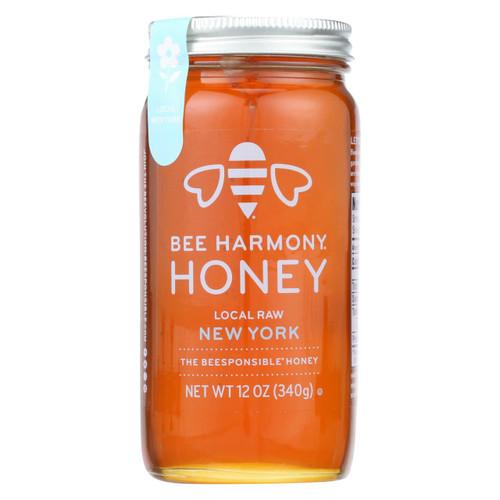 Bee Harmony - Honey - Local Raw New York - Case Of 6-12 Oz.