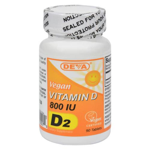 Deva Vegan Vitamins - Vitamin D - 800 Iu - 90 Tablets