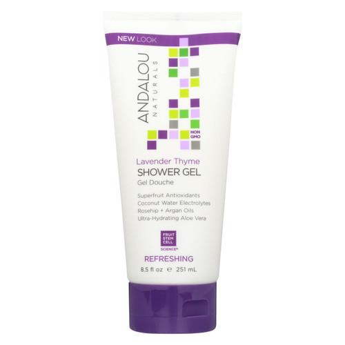 Andalou Naturals Shower Gel - Lavender Thyme Refreshing - 8.5 Fl Oz