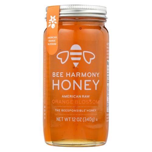 Bee Harmony - Honey - American Raw Orange Blossom - Case Of 6-12 Oz.
