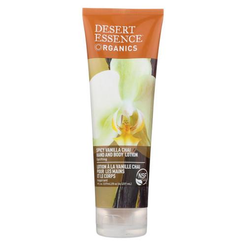 Desert Essence Hand And Body Lotion Organics Vanilla Chai - 8 Fl Oz