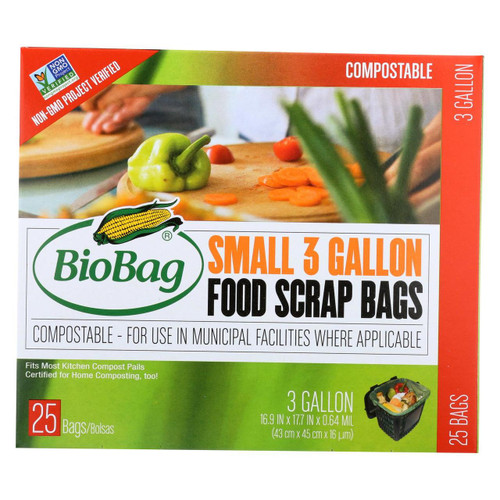 Biobag - 3 Gallon Compost/waste Bags - Case Of 12 - 25 Count
