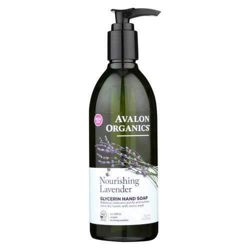 Avalon Organics Glycerin Liquid Hand Soap Lavender - 12 Fl Oz