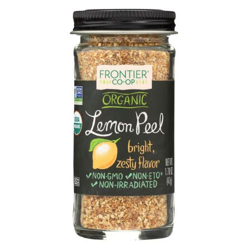 Frontier Herb Lemon Peel - Organic - Granules - 2.10 Oz
