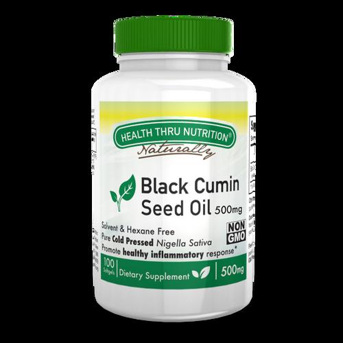 Health Thru Nutrition - Black Cumin Seed Oil 500mg - 100 Softgels