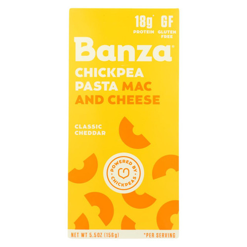 Banza - Chickpea Pasta Mac And Cheese - Classic Cheddar - Case Of 6 - 5.5 Oz.