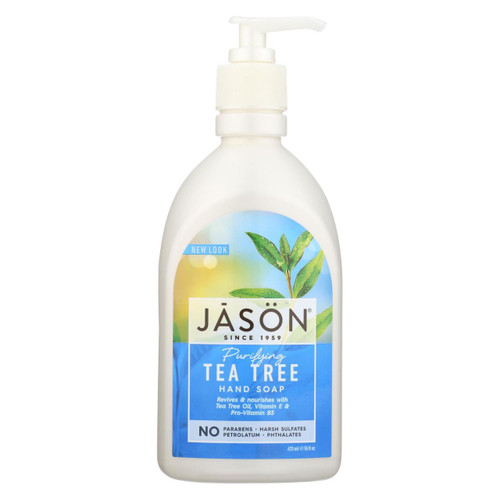 Jason Pure Natural Purifying Tea Tree Hand Soap - 16 Fl Oz