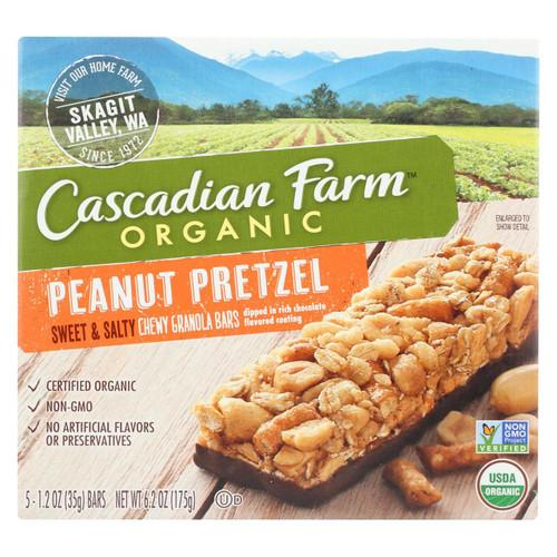 Cascadian Farm Sweet And Salty Bar - Organic - Peanut Pretzel - 6.2 Oz - Case Of 12