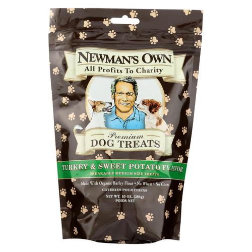 Newman's Own Organics Turkey And Sweet Potato Treats - Organic - Case Of 6 - 10 Oz.