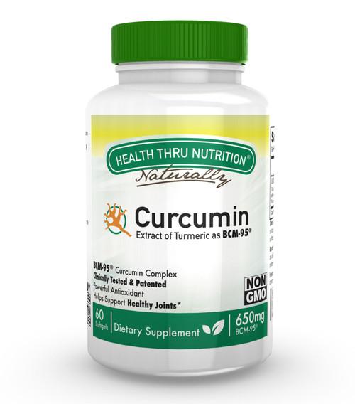 Health Thru Nutrition - Curcumin 650mg Bcm-95 - 60 Softgels