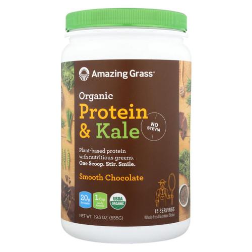 Amazing Grass Organic Protein And Kale Powder - Smooth Chocolate - 19.6 Oz