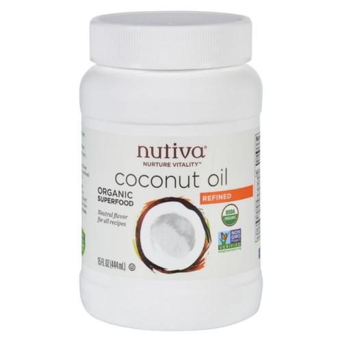 Nutiva Coconut Oil - Organic - Superfood - Refined - 15 Oz
