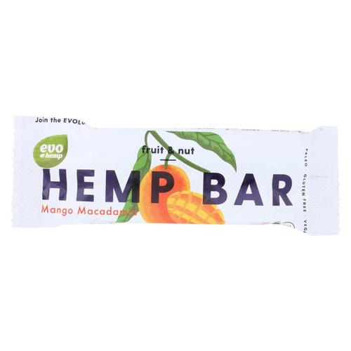 Evo Hemp Organic Hemp Bars - Mango Macadamia Energy - 1.69 Oz Bars - Case Of 12