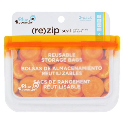 Blue Avocado - Bag - Re-zip - Snack - Orange - 2 Count