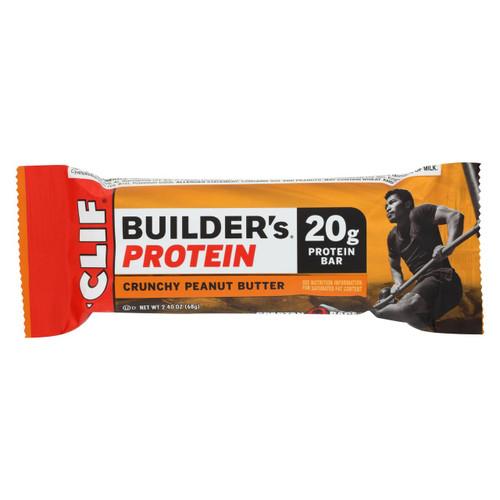 Clif Bar Builder Bar - Crunchy Peanut Butter - Case Of 12 - 2.4 Oz