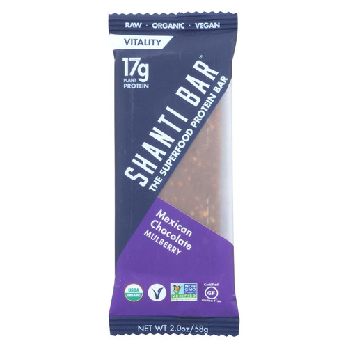 Shanti Bar - Superfood Protein Bar - Mexican Chocolate - Case Of 12 - 2 Oz.