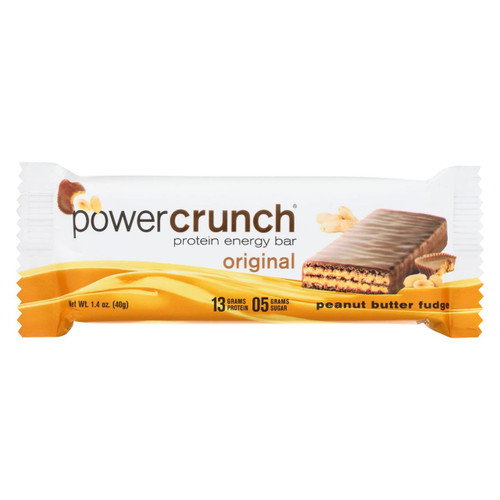 Power Crunch Bar - Peanut Butter Fudge - Case Of 12 - 1.4 Oz - 0248310