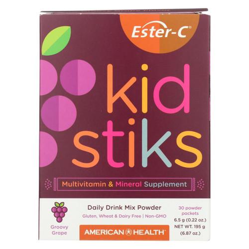 American Health - Ester-c - Kid Stiks - Groovy Grape - 30 Packets