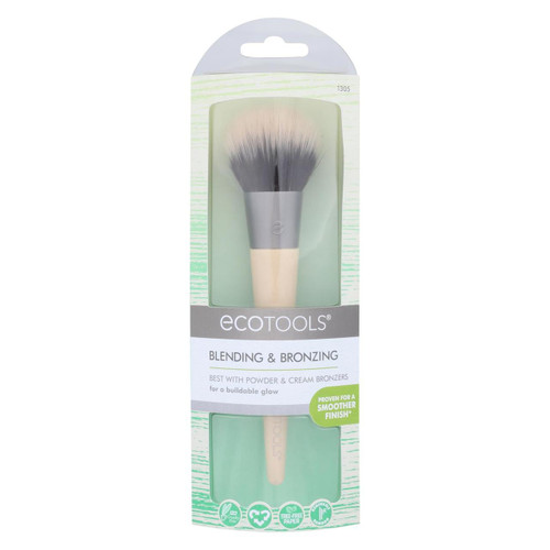 Eco Tool Blending And Bronzing Makeup Brush - Case Of 2 - 1 Count
