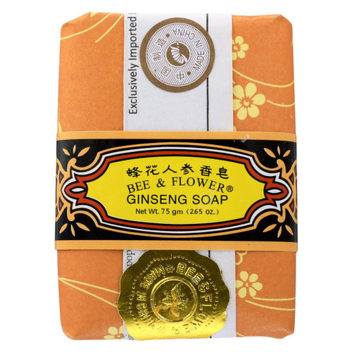 Bee And Flower Soap Ginseng - 2.65 Oz - Case Of 12 - 0621086