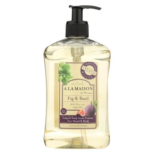 A La Maison - French Liquid Soap - Fig And Basil - 16 Oz