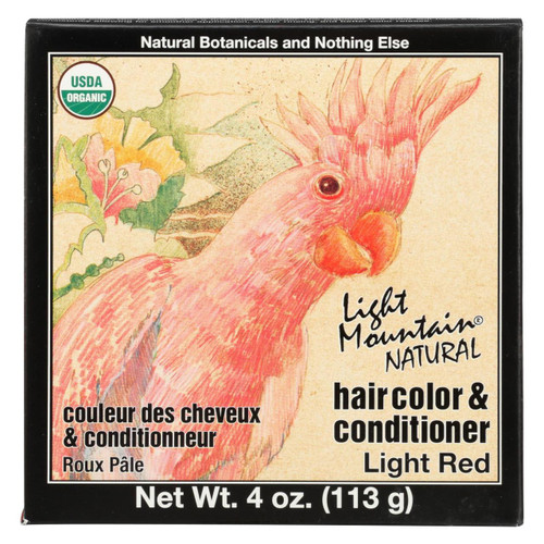 Light Mountain Hair Color - Light Red - Case Of 1 - 4 Oz.