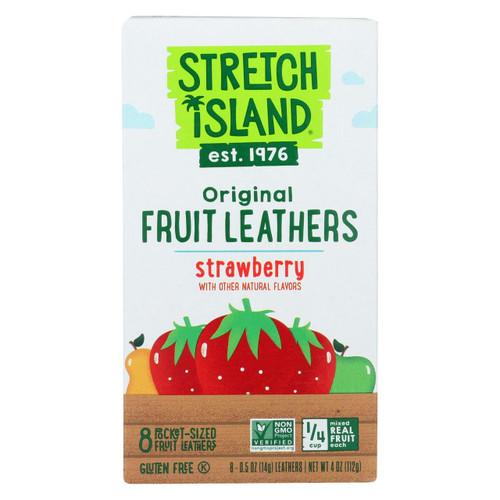 Stretch Island Organic Fruit Strip - Strawberry - Case Of 9 - 4 Oz.