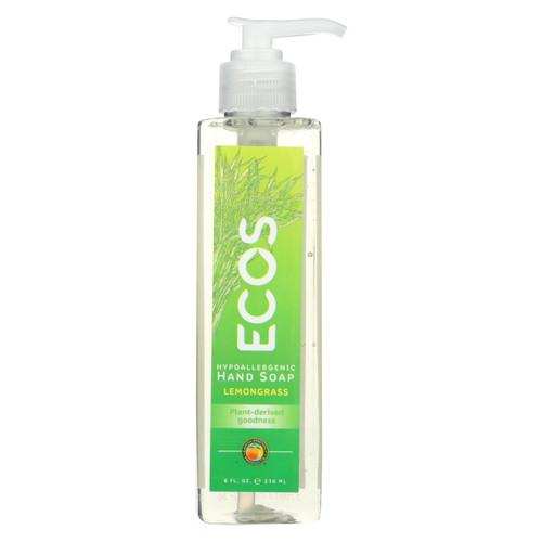 Earth Friendly Hand Soap - Ecos - Lemongrass - Case Of 6 - 8 Fl Oz