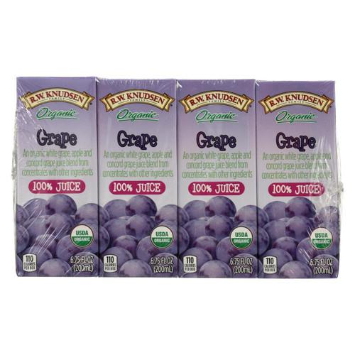 R.w. Knudsen - Juice Box - Organic Grape - Case Of 7 - 6.75 Fl Oz.