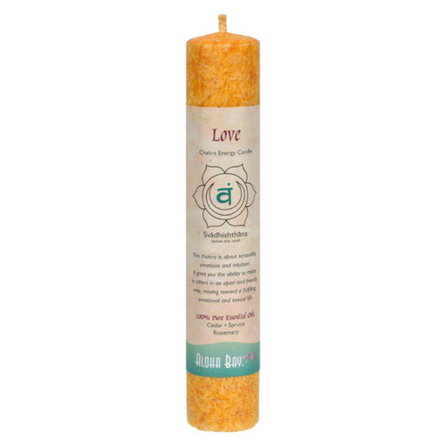 Aloha Bay - Chakra Pillar Candle Love - 1 Candle