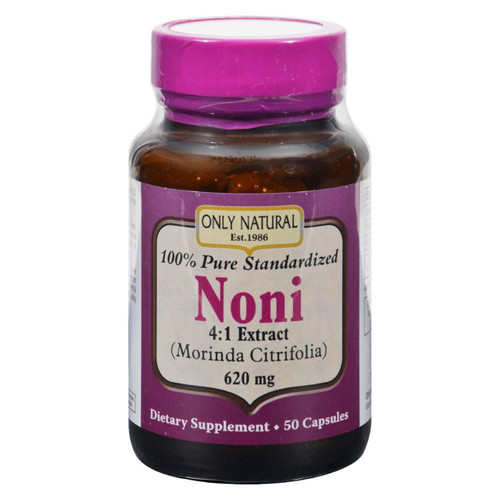 Only Natural Noni 100% Standard - 620 Mg - 50 Caps