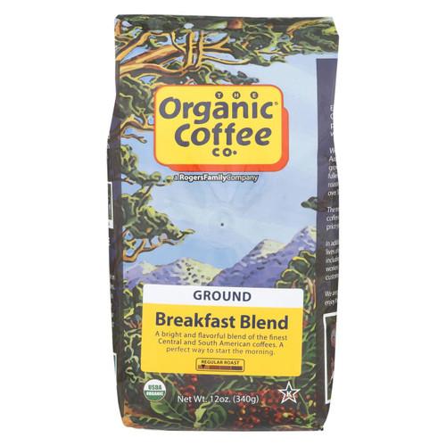 Organic Coffee Company Ground Coffee - Breakfast Blend - Case Of 6 - 12 Oz.