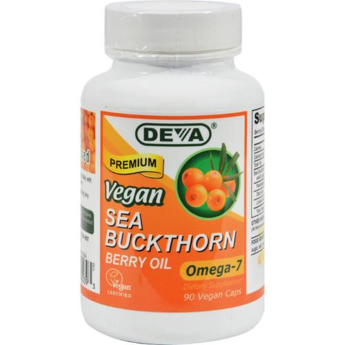 Deva Vegan Vitamins - Sea Buckthorn Oil Vegan - 90 Vegan Capsules