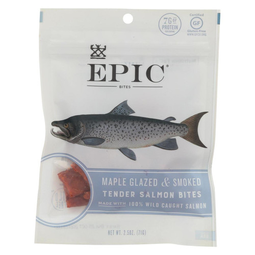 Epic - Jerky Bites - Salmon Maple Dill - Case Of 8 - 2.5 Oz.