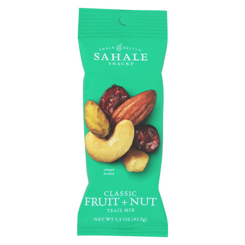 Sahale Snacks Trail Mix - Classic Fruit And Nut Blend - 1.5 Oz - Case Of 9