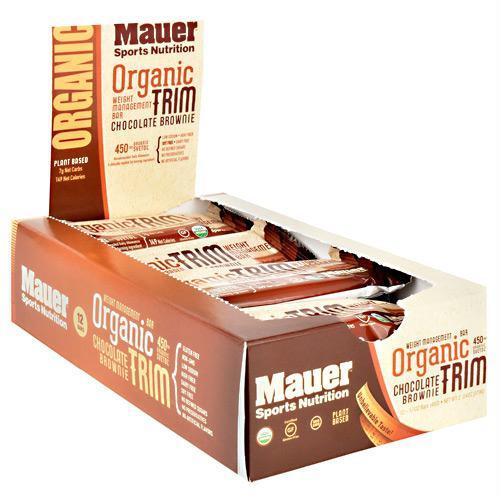 Mauer Sports Nutrition Organic Trim Bar Chocolate Brownie - Gluten Free