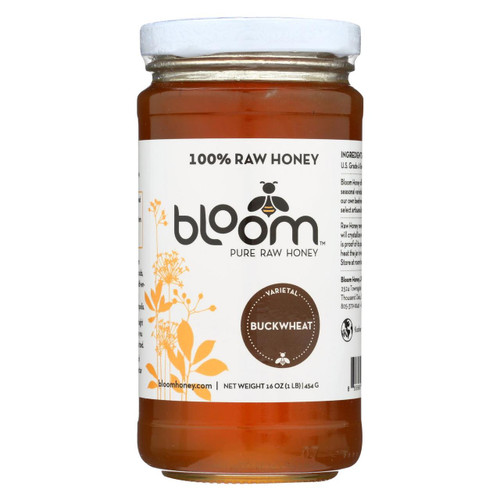 Bloom Honey - Honey - Buckwheat - Case Of 6 - 16 Oz.